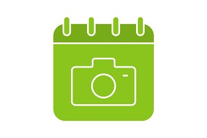 Photographer's day glyph color icon