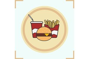 Fastfood color icon
