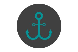 Anchor glyph color icon