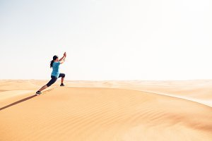 Yoga In The Desert