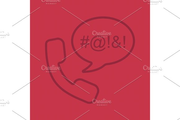 Offensive phone talk color linear icon