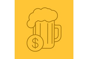 Buy beer color linear icon