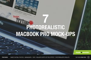 7 Nature Themed MacBook Pro Mockups