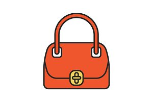 Women's handbag color icon