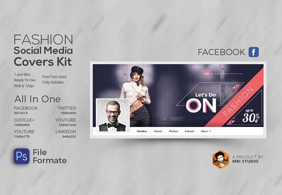 Fasion Social Media Cover Kit