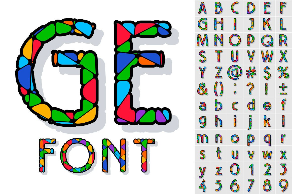 festive carnival font graphic objects creative market
