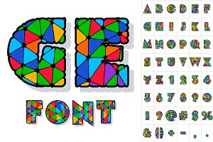 Multicolored Vector Alphabet.