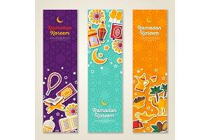 Ramadan Kareem vertical banners