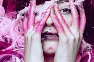 Dark pink model