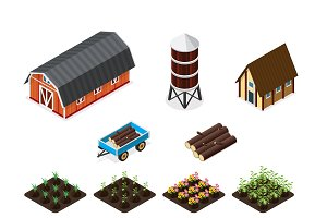 Isometric farm element