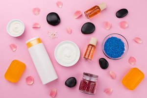 Top View of Beauty Care Make Up