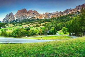 Fantastic alpine landscape, Italy