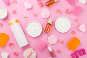 Top View of Beauty Spa Products