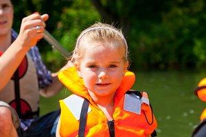 Little Girl On Boat