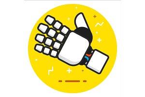Robot hand icon