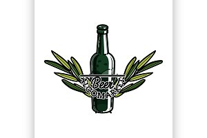 Color vintage alcomarket emblem