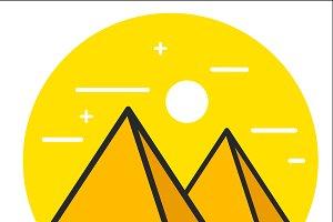Pyramid icon.