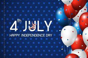 Vector 4 july independence day