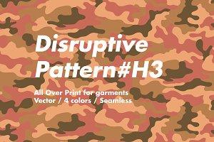 Disruptive Pattern #H3 Camouflage