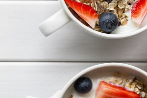 Closeup of Tasty Breakfast Muesli