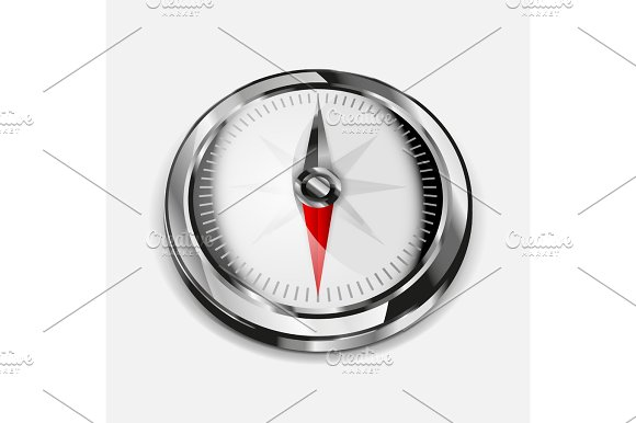Vector realistic compass