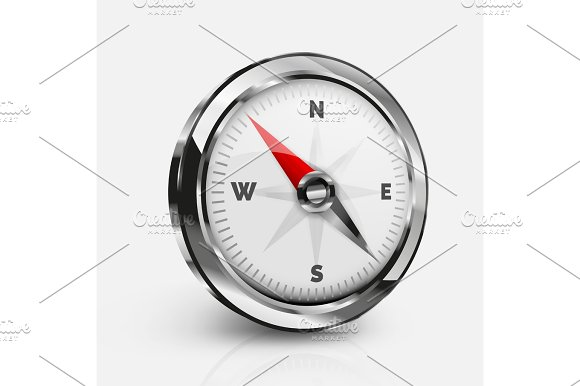 Vector Realistic Compass