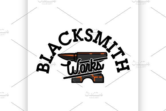 Color Vintage Blacksmith Emblem