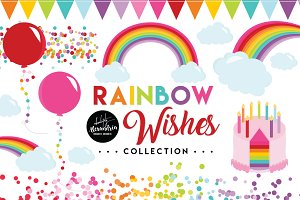 Rainbow Wishes Graphics & Patterns