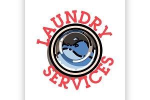 laundry services emblem