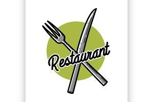 Color vintage restaurant emblem