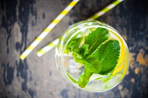Fresh  detox drink with mint