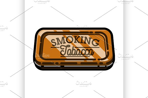 Color Vintage Tobacco Shop Emblem