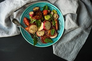 Summer organic salad