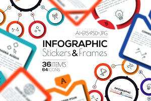 Infographic Stickers & Frames