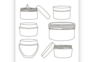 Cream jar set