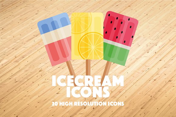 20 High Quality Ice Cream Icons