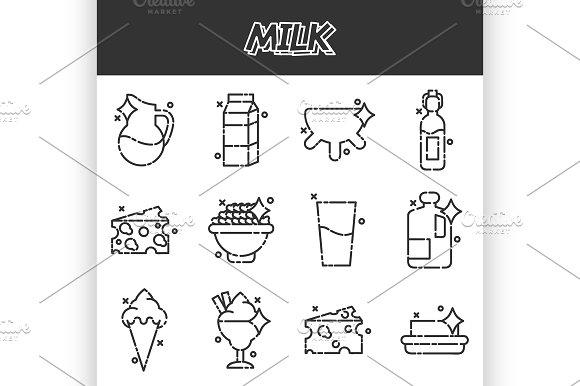 Milk Production Cartoon Concept