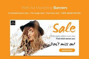 Fashion Web Ad Marketing Banner set