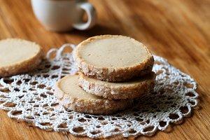 Coffee Sable Cookies