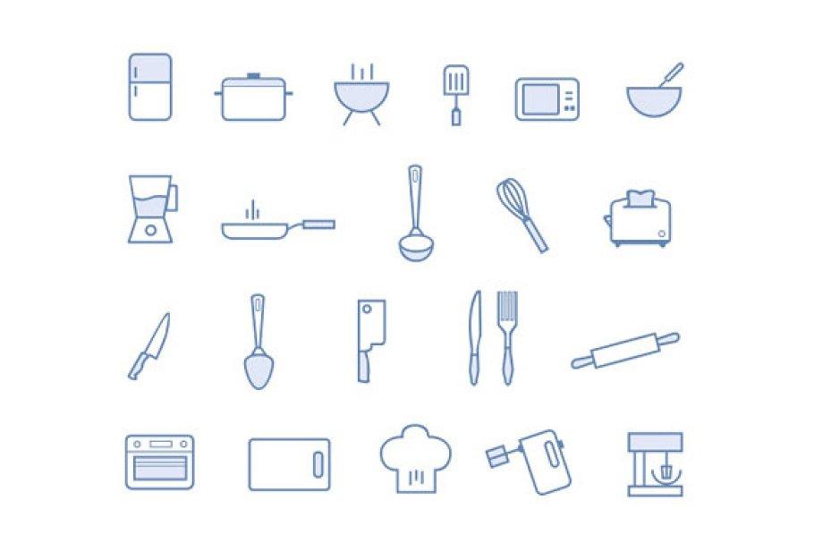 21 Kitchen Icons Icons Creative Market