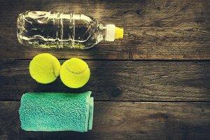 Top View Sport Health Conceptual