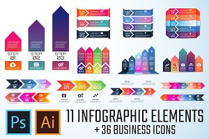 Arrow Infographics Template Vol.1