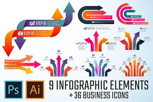 Arrow Infographics Template Vol.2