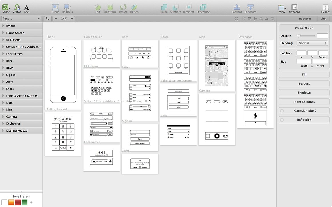Iphone App Wireframing Kit Wireframe Kits Creative Market