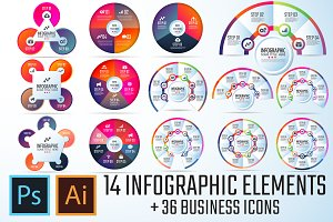 Circle Infographics Template Vol.6