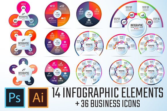 Circle Infographics Template Vol.6