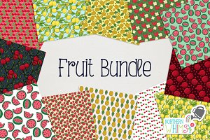 Fruit Seamless Pattern Bundle
