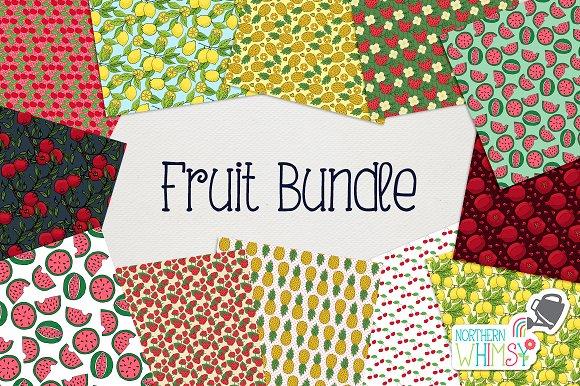 Fruit Seamless Pattern Bundle