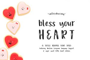 Bless Your Heart Font Trio