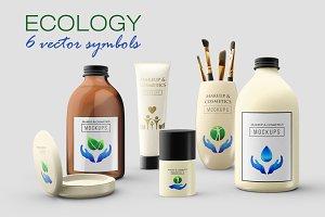 6 Ecology symbols, logos